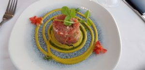 Yellowtail tartare at Harbour House
